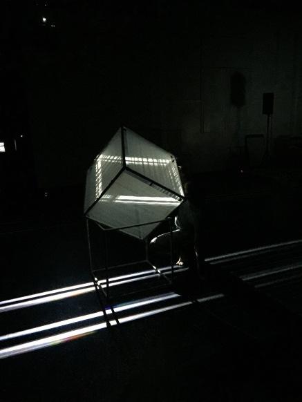 Fabric cubes capturing light