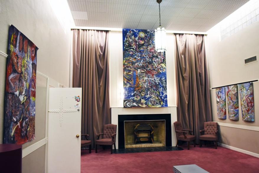 Joe Holdren's work in the lobby